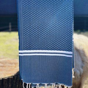 hamamdoek grijsblauw